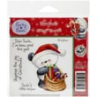 """Crafter's Companion Party Paws™ EZMount™ 5 1/2"""" x 8 1/2"""" Rubber Stamp Set, Dear Santa"""