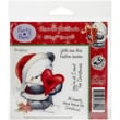 """Crafter's Companion Party Paws™ EZMount™ 5 1/2"""" x 8 1/2"""" Rubber Stamp Set, Home For Christmas"""