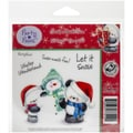Crafter's Companion Party Paws™ EZMount™ 5 1/2in. x 8 1/2in. Rubber Stamp Set, Snow Much Fun