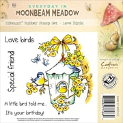 Crafter's Companion Moonbeam Meadow Everyday EZMount™ 4 3/4 x 4 3/4 Rubber Stamp Set, Love Birds