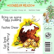Crafter's Companion Moonbeam Meadow Holiday EZMount™ 4 3/4 x 4 3/4 Stamp Set, Festive Cheer