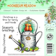 Crafter's Companion Moonbeam Meadow Holiday EZMount™ 4 3/4 x 4 3/4 Stamp Set, Christmas Kisses
