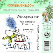 Crafter's Companion Moonbeam Meadow Holiday EZMount™ 4 3/4 x 4 3/4 Stamp Set, Magical Star