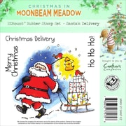 Crafter's Companion Moonbeam Meadow Holiday EZMount™ 4 3/4 x 4 3/4 Stamp Set, Santa's Delivery