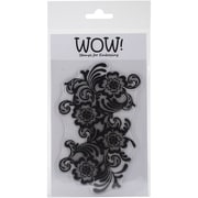 """Wow Embossing Powder 4"""" x 5 3/4"""" Clear Stamp Set, Sarah Rhodes Lace Large"""