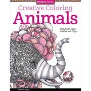 "Design Originals ""Creative Coloring: Animals: Art Activity Pages To Relax and Enjoy"" Adult Coloring Book"