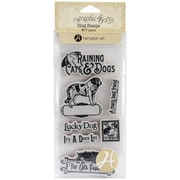 Hampton Art™ #1 Graphic 45 Cling Stamps, Raining Cats & Dogs