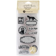Hampton Art™ #2 Graphic 45 Cling Stamps, Raining Cats & Dogs