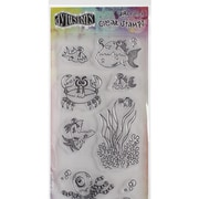 """Ranger 4"""" x 8"""" Dyan Reaveley's Dylusions Clear Stamps, Clearly Under The Sea"""