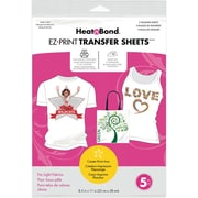 "Thermoweb Heat'n Bond EZ Print Light Fabrics Transfer Sheet, 8 1/2"" x 11"""