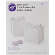 "Wilton® 2 1/4"" x 2 1/4"" x 2 1/4"" Square Favor Box Kit, White"