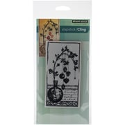 "Penny Black® 5"" x 7 1/2"" Sheet Cling Rubber Stamp, Adorned With Love"