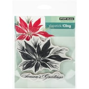 """Penny Black® 5"""" x 7 1/2"""" Sheet Cling Rubber Stamp, Red Star"""