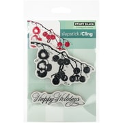 """Penny Black® 5"""" x 7 1/2"""" Sheet Cling Rubber Stamp, Berry Merry Christmas"""
