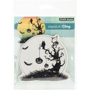 "Penny Black® 3 3/4"" x 4 1/4"" Sheet Cling Rubber Stamp, Pumpkin Tree"