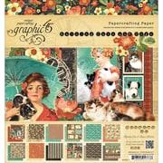 Graphic 45® Paper Pad, 8 x 8, Raining Cats & Dogs