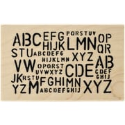 """Ranger Dyan Reaveley's 4"""" x 2 1/2"""" Dylusions Mounted Wood Stamp, Letter Jumble"""