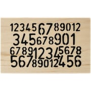 "Ranger Dyan Reaveley's 4"" x 2 1/2"" Dylusions Mounted Wood Stamp, Numbers Game"