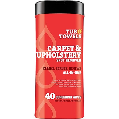 """""Federal Process Tub O' Towels 7"""""""" x 8"""""""" Heavy Duty Carpet & Upholstery Wipes, 40/Pack"""""" 1513914"