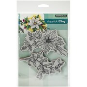 "Penny Black® 5"" x 7 1/2"" Sheet Cling Rubber Stamp, Festive Florals"