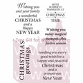 Woodware Craft Collection 5 1/2in. x 3 1/2in. Clear Stamps Sheet, Festive Verses