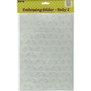 Ecstasy Crafts Nellie's Choice A4 Embossing Folder, Baby 2