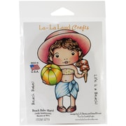 "La-La Land Crafts 4"" x 3"" Cling Mount Rubber Stamps, Beach Babe Marci"