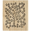 Ranger Dyan Reaveley's 3in. x 3 1/2in. Dylusions Mounted Wood Stamp, Amongst The Stars