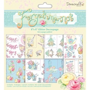 Trimcraft Decoupage Pad, 8 x 8, Forget Me Not