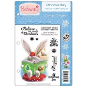 Crafter's Companion Bebunni EZMount™ 5 1/2 x 8 1/2 Cling Rubber Stamp Set, Christmas Story