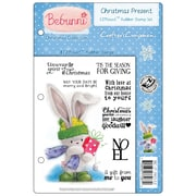 "Crafter's Companion Bebunni EZMount™ 5 1/2"" x 8 1/2"" Cling Rubber Stamp Set, Christmas Present"