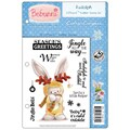 Crafter's Companion Bebunni EZMount™ 5 1/2in. x 8 1/2in. Cling Rubber Stamp Set, Rudolph