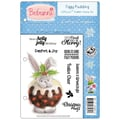 Crafter's Companion Bebunni EZMount™ 5 1/2in. x 8 1/2in. Cling Rubber Stamp Set, Figgy Pudding