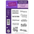 Crafter's Companion Sentimentals Holiday EZMount™ 5 1/2in. x 8 1/2in. Rubber Stamp Set, Family & Friends