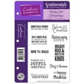 Crafter's Sentimentals Holiday EZMount™ 5 1/2in. x 8 1/2in. Rubber Stamp Set, Home For Christmas