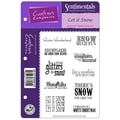 Crafter's Companion Sentimentals Holiday EZMount™ 5 1/2in. x 8 1/2in. Rubber Stamp Set, Let It Snow