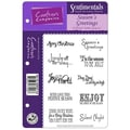 Crafter's Sentimentals Holiday EZMount™ 5 1/2in. x 8 1/2in. Rubber Stamp Set, Seasons Greetings