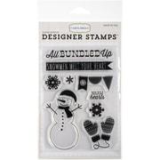 Echo Park Paper 4 x 6 Carta Bella Stamps, All Bundled Up