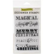 Echo Park Paper 4 x 6 Echo Park Stamps, Christmas Sentiments
