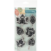 "Penny Black® 3 3/4"" x 6 3/4"" Sheet Cling Rubber Stamp, Filigree Foliage"