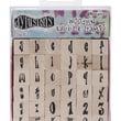 "Ranger Dyan Reaveley's 0.56"" x 0.56"" Dylusions Mounted Wood Stamp, Alphabet Set"