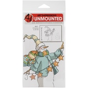 Art Impressions Christmas Cling 8 x 4 Rubber Stamp Set, Merry Christmas To All