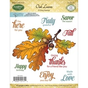 "Justrite Papercraft® 3 1/2"" x 4"" Mini Cling Stamp Set, Oak Leaves"