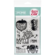 "Avery Elle 4"" x 6"" Clear Stamp Set, Seasonal Sentiments"