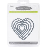 Darice® Embossing Essentials Die, Nesting Scallop Hearts