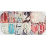 Melissa Frances Country Numbers Canvas Color Print