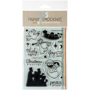 "Paper Smooches 4"" x 6"" Clear Stamps, A Blessed Christmas"