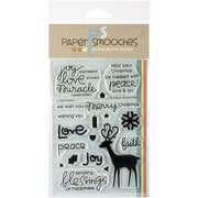 "Paper Smooches 4"" x 6"" Clear Stamps, A Holy Holiday"