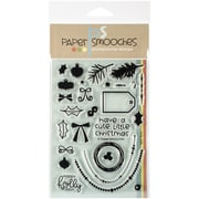 "Paper Smooches 4"" x 6"" Clear Stamps, Holly Jolly"