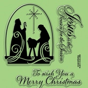 """Stampendous® 4"""" x 6"""" Sheet Perfectly Clear Christmas Stamps, Christmas Nativity"""
